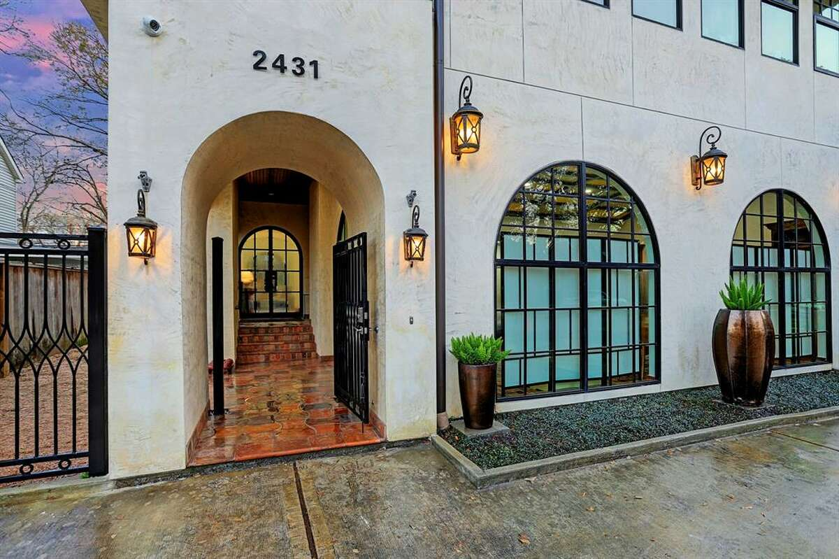 Located at2431 Nottingham Street in Houston's Museum District, this oddball home was custom-made in 2013 and is on the market for $2.45 million. The home's over-the-top features include atile roof imported from Portugal, master terrace that extends the entire width of the home, massive vaulted ceilings anddesigner stone floors. At5,751 square feet, the home boasts five bedrooms and four full and three half bathooms, rec-area, mud room, game room, casita and study.