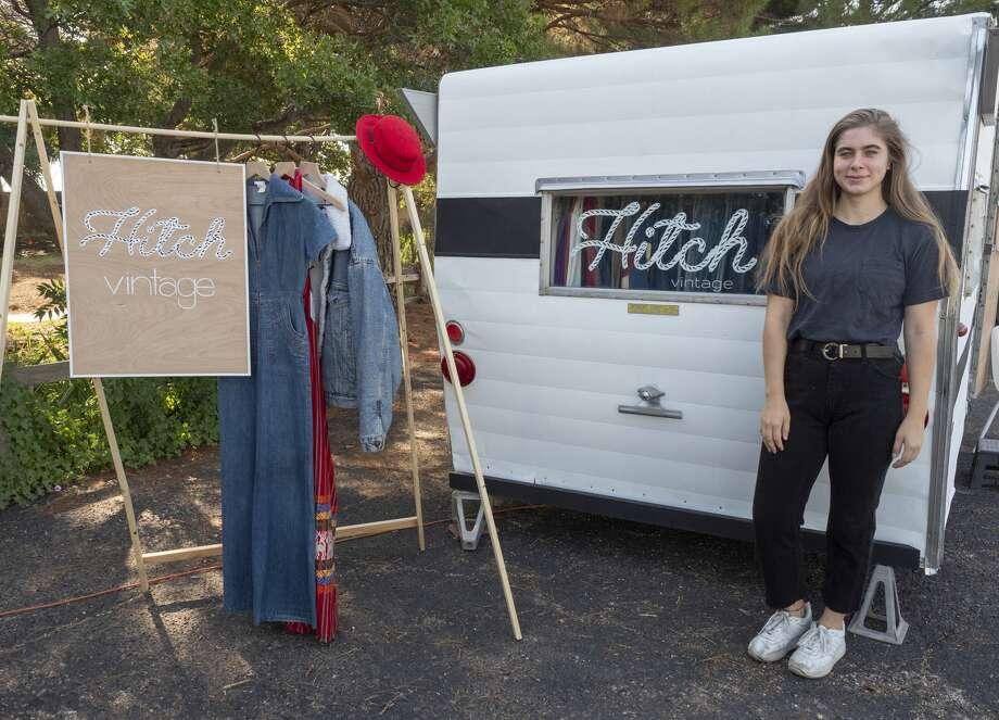 Laurel Utsman is owner of Hitch Vintage. She sells vintage clothing out of a mobile trailer. Photo: Tim Fischer/Midland Reporter-Telegram