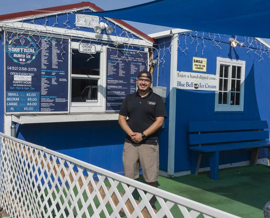 One of Avey Rayos' three businesses is Snofficial Shaved Ice. Photo: Tim Fischer/Midland Reporter-Telegram