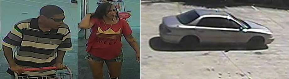Crime Stoppers is searching for two people involved in a CVS robbery. Photo: Crime Stoppers