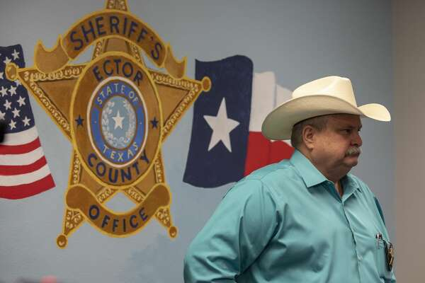 Ector County Sheriff Mike Griffis held a press conference about the serial shooting incident Monday, Sept. 30, 2019 at the Ector County Sheriff's Office.