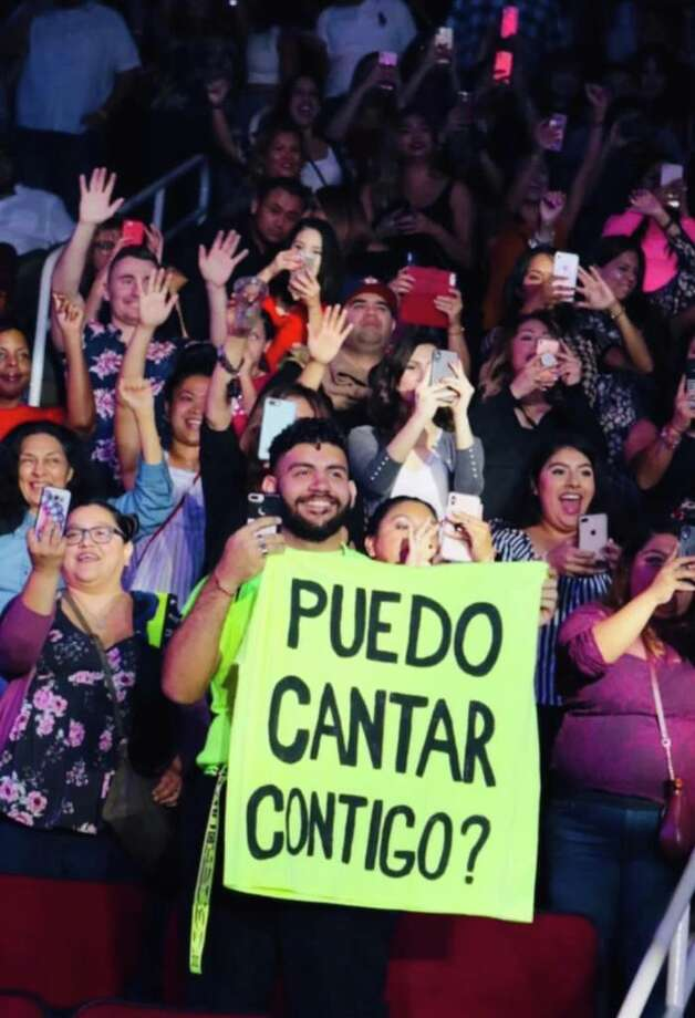 Samuel Palacios performed onstage at Toyota Center with Maluma. Photo: Armand Angulo