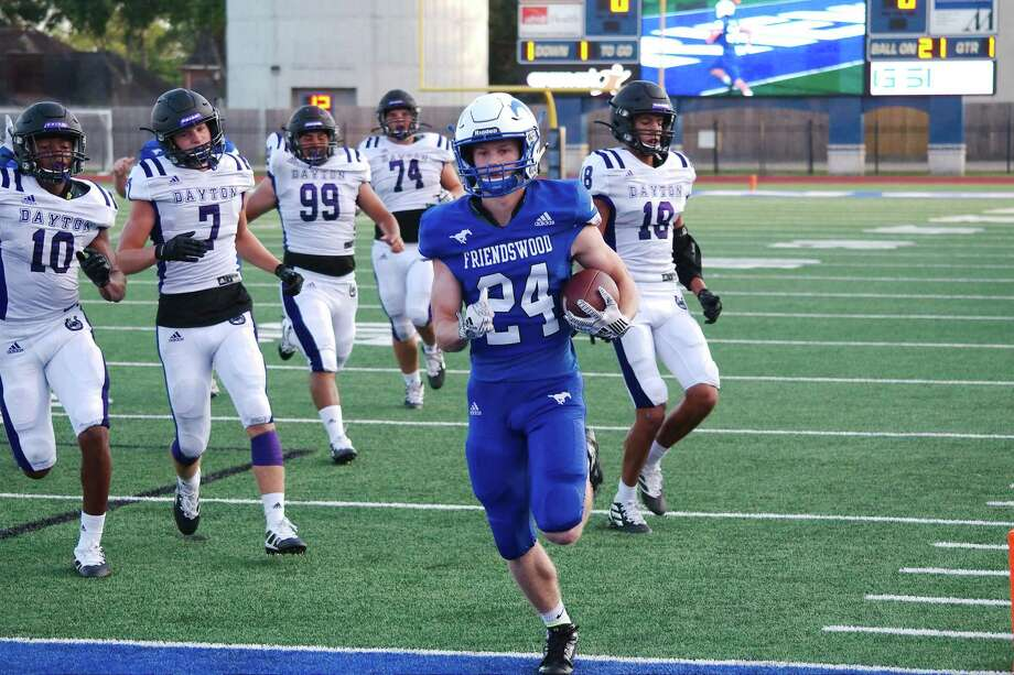 Friendswood's Joey Tomko (24) and the remainder of the Mustangs host Galveston Ball at 7 p.m., Friday at Henry Winston Stadium. Photo: Kirk Sides / Staff Photographer / © 2019 Kirk Sides / Houston Chronicle