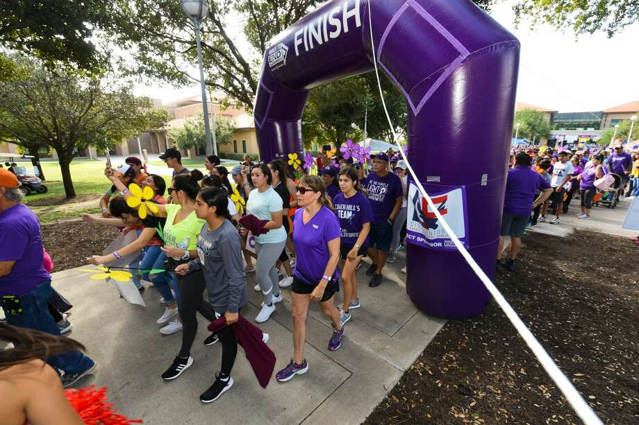 Participants show their support in the 2019 Walk to End Alzheimer's on Saturday, Sep. 28, 2019, at TAMIU. Photo: Danny Zaragoza