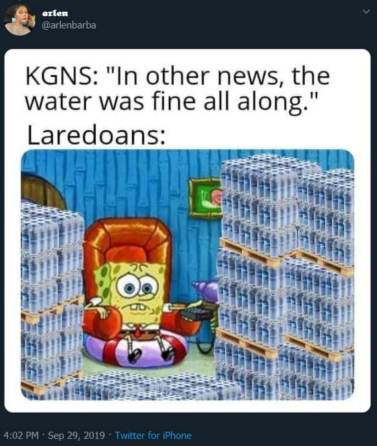 Some locals reacted to the news of the boil water notice affecting Laredo with panic, while others responded jokes and memes making light of the situation.