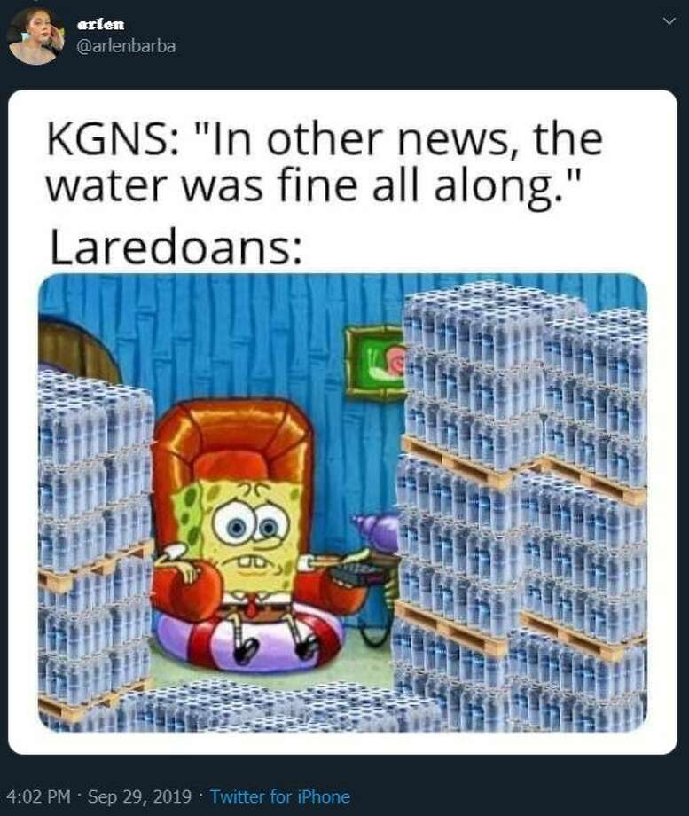 Some locals reacted to the news of the boil water notice affecting Laredo with panic, while others responded jokes and memes making light of the situation. Photo: Twitter.com