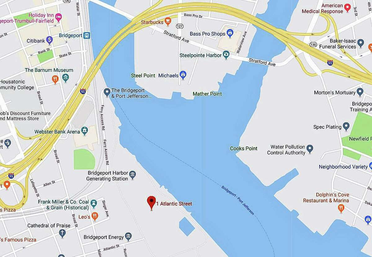 A body was found in the water near the Bridgeport Harbor Power Plant on Atlantic Avenue on Monday, Sept. 30, 2019.