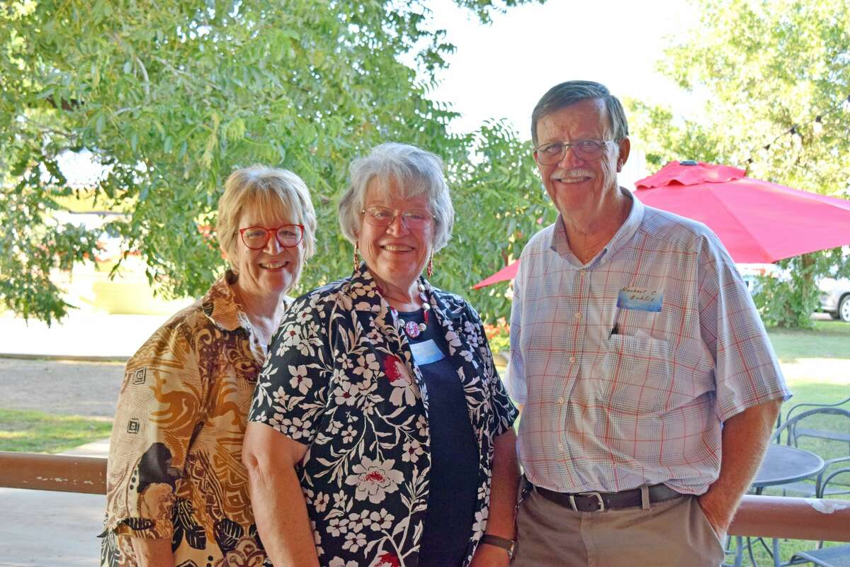 Siblings Rosemary Hooper, Nancy Cox and Norbert Bublis take part in the 50th anniversary celebration of Central Plains Center. CPC, which provides mental health care to individuals with mental health issues, was established by their mother, Dr. Mary Bublis, with the help of former Hale County Judge C.L. Abernethy and Hale County State Bank officer Woody Allen. (Not pictured: Jim Bublis, Cathy Hoch and Dr. Paul Bublis, the other three of Dr. Mary Bublis's kids)