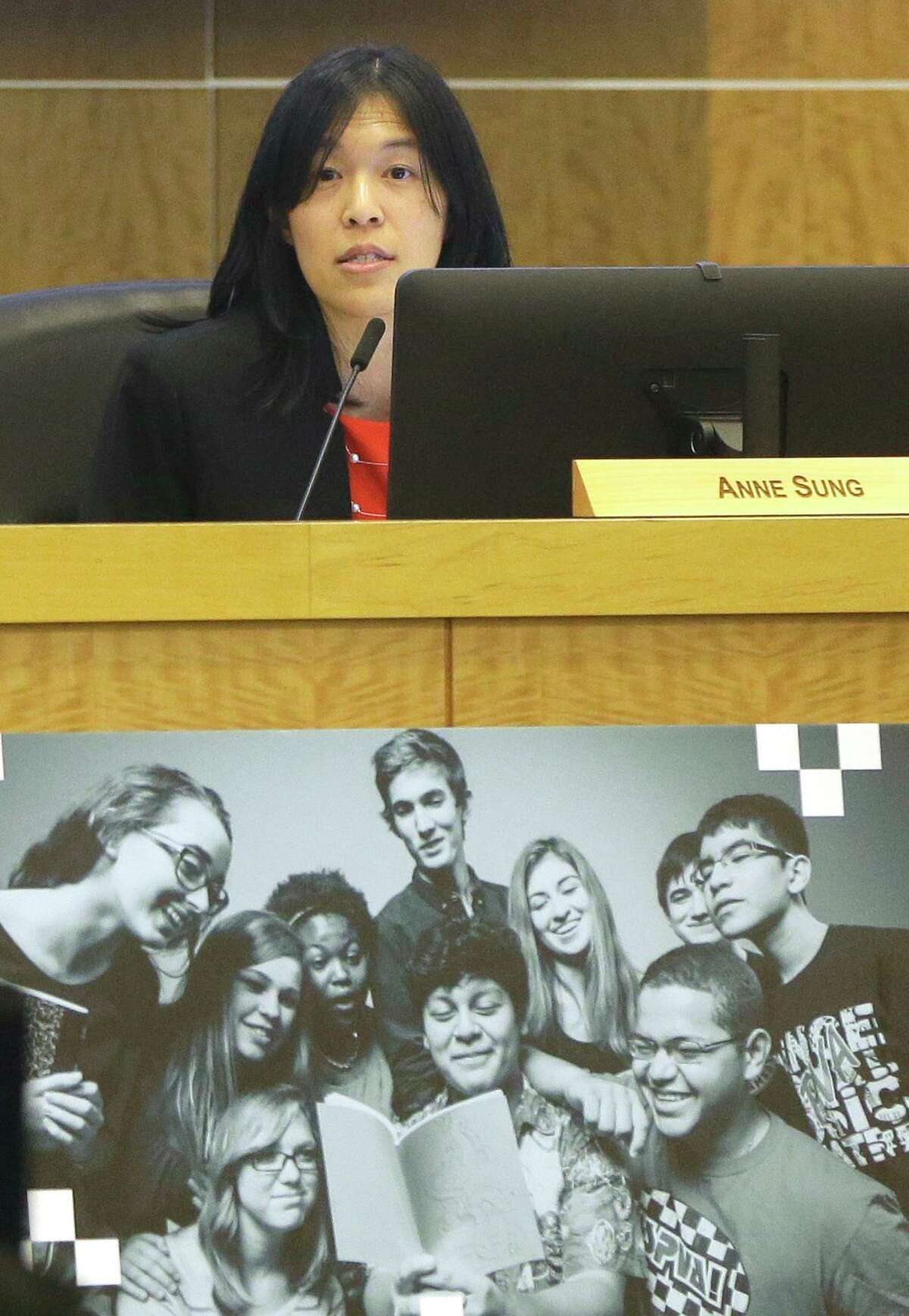 Houston ISD Trustee Anne Sung, pictured in 2018, said she is awaiting more information before drawing conclusions about the accuracy of a state investigative report that details extensive problems with the district's special education department. Sung chaired a district committee in 2018 that called the state of HISD's special education services