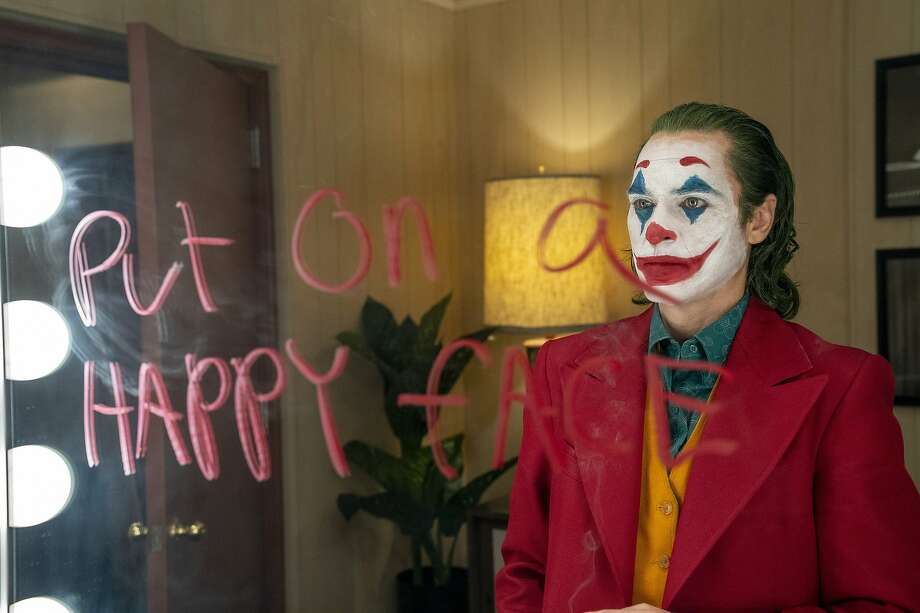 """This image released by Warner Bros. Pictures shows Joaquin Phoenix in a scene from """"Joker,"""" in theaters on Oct. 4.  (Niko Tavernise/Warner Bros. Pictures via AP) Photo: Niko Tavernise, Associated Press"""