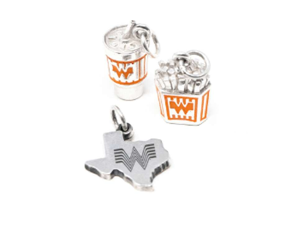 James Avery shared a look at holiday pieces that are set to hit stores in October, including a Whataburger fry box charm. A release date was not disclosed, but the posted price is $82. Photo: Courtesy, James MCA PR Group For James Avery