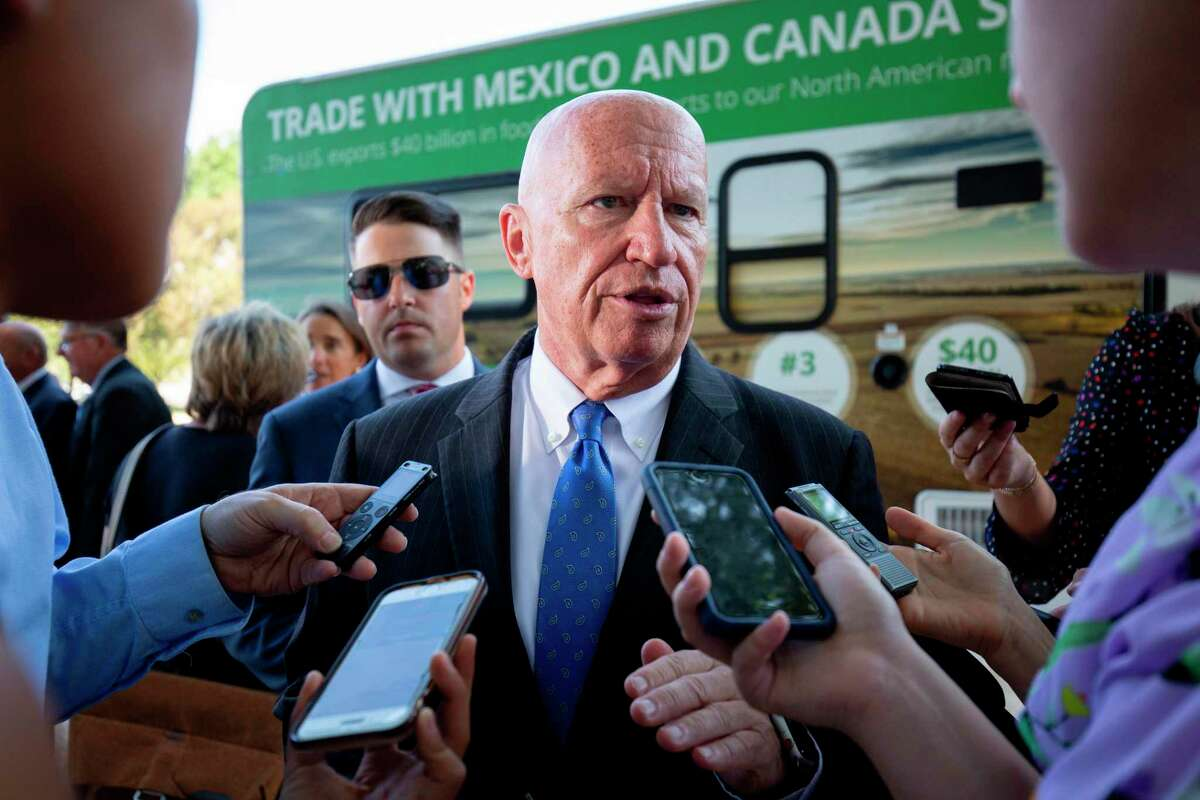 US Representative Kevin Brady speaks to the press after a rally for the passage of the US-Mexico-Canada Agreement (USMCA) near the US Capitol in Washington, DC, on September 12, 2019. (Photo by Alastair Pike / AFP)ALASTAIR PIKE/AFP/Getty Images