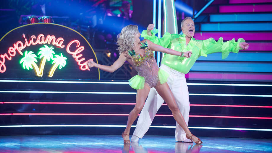 """Lindsay Arnold and Sean Spicer on """"Dancing With the Stars."""" 6.2.6 Photo: Eric McCandless/ABC / The Washington Post"""