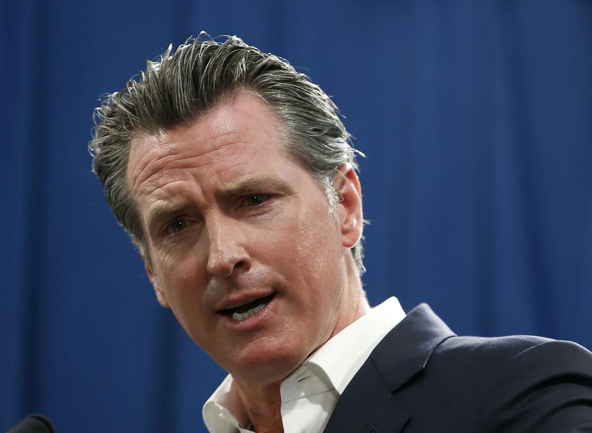 FILE - In this Sept. 16, 2019, file photo, Gov. Gavin Newsom answers a question during a news conference in Sacramento, Calif.
