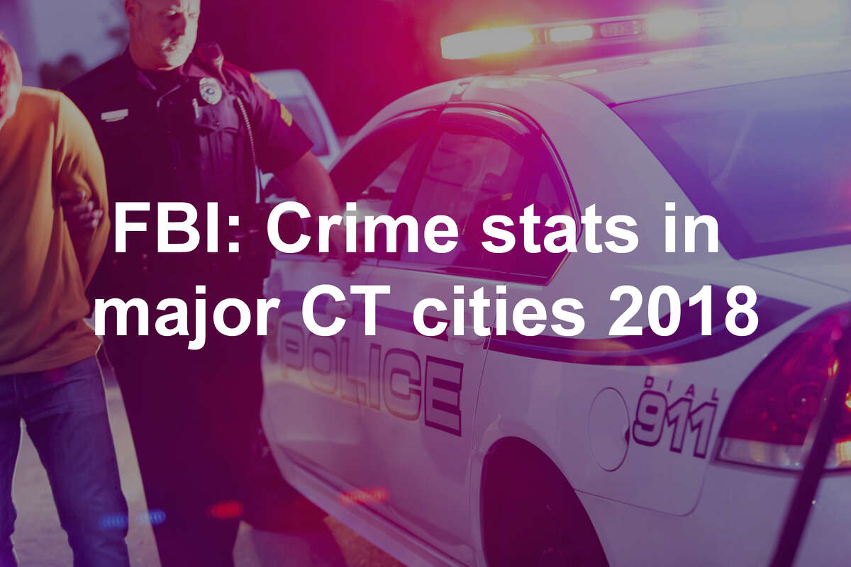 The rate of violent crime in Connecticut took a steep drop in 2018, according to a report issued Monday by the FBI.
