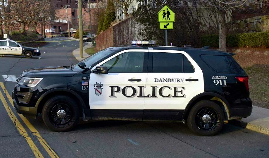 Danbury Police car on Thursday afternoon. January 17, 2019, in Danbury, Conn. Photo: H John Voorhees III / Hearst Connecticut Media / The News-Times