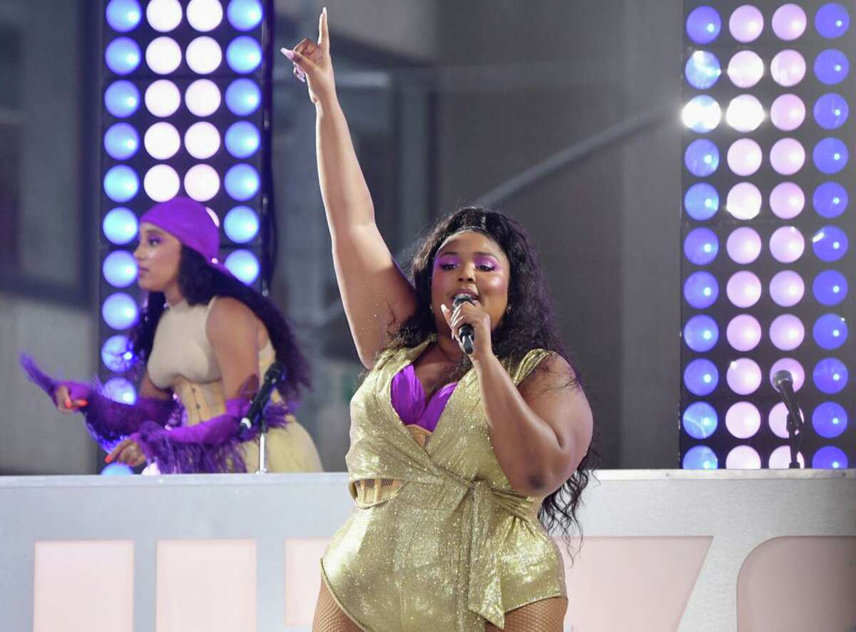 Lizzo performs live onstage on the Today Show at Rockefeller Plaza, August 23, 2019 in New York City. (ANGELA WEISS/AFP/Getty Images/TNS) *FOR USE WITH THIS STORY ONLY*