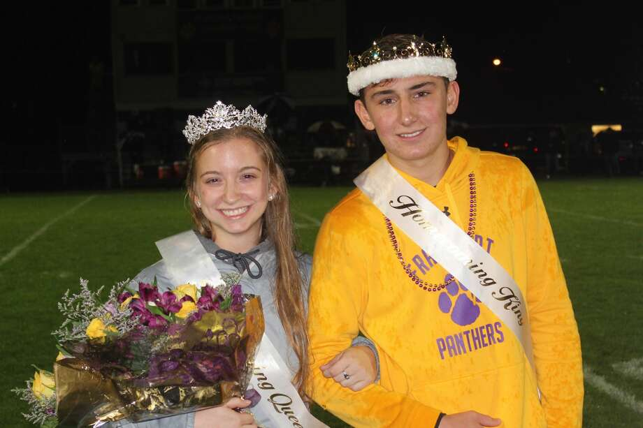 Haley Myers and Danny Lee are crowned homecoming queen and king during a halftime ceremony on Friday night. Photo: Robert Myers