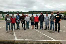 Shown are students from the four West Michigan D League teams that took part in the first ever Bass Tournament. Teams came from Brethren, Bear Lake, Marion and Mason County Eastern schools who competed on Manistee Lake. (Courtesy photo)