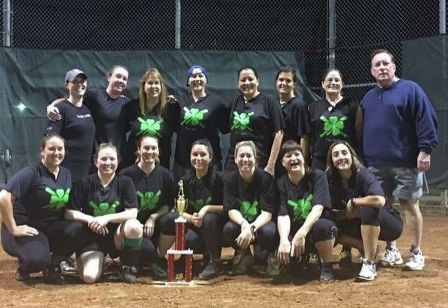 Colony Grille's women's softball team are city runners-up. Team members (front row) are Angela Gargano, Daniela Pickle, Felicia Zalik, Darci Worroll, Bridget Figmac, Jess Betts and Kristen Chase; (second row) Jennifer Trahan, Meghan Puvogel, Sue Moran, Melissa Hart, Donna Travis, Karen Varney, Danielle Rea and coach Dan Worroll. Missing from the photo is Mary Ferrucci. Photo: Contributed Photo / Milford Rec. Dept. / Milford Mirror