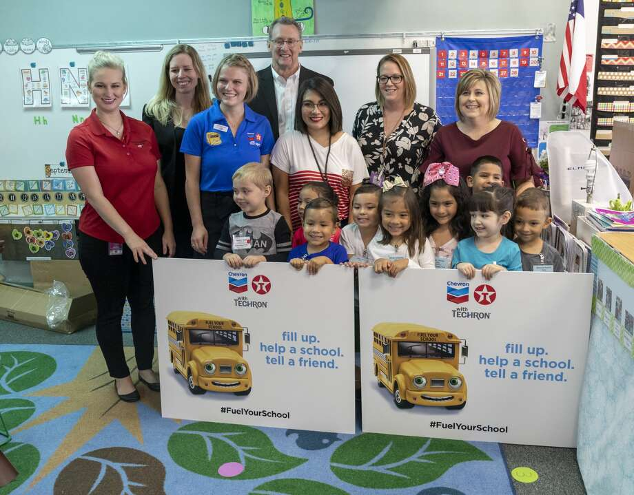 Chevron and Kent Kwik kicked off Fuel Your School on Monday, Sept. 30, 2019 in Jennifer Merriman's classroom with the delivery of STEM projects for her students at Lamar Early Education Center. Photo: Jacy Lewis/Reporter-Telegram