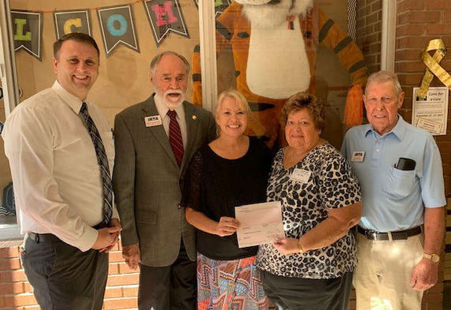Principal Andrew Gipson, Bill Funkhouser, Melissa Potvin, Mary May and Fred Bloss Photo: Courtesy Of IRTAF