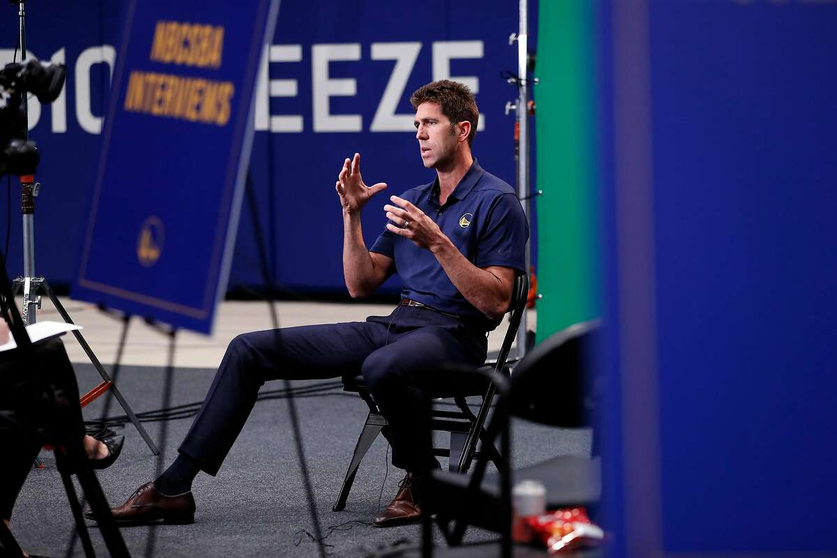 Golden State Warriors' President of Basketball Operations Bob Myers during media day at Chase Center in San Francisco, Calif., on Monday, September 30, 2019.
