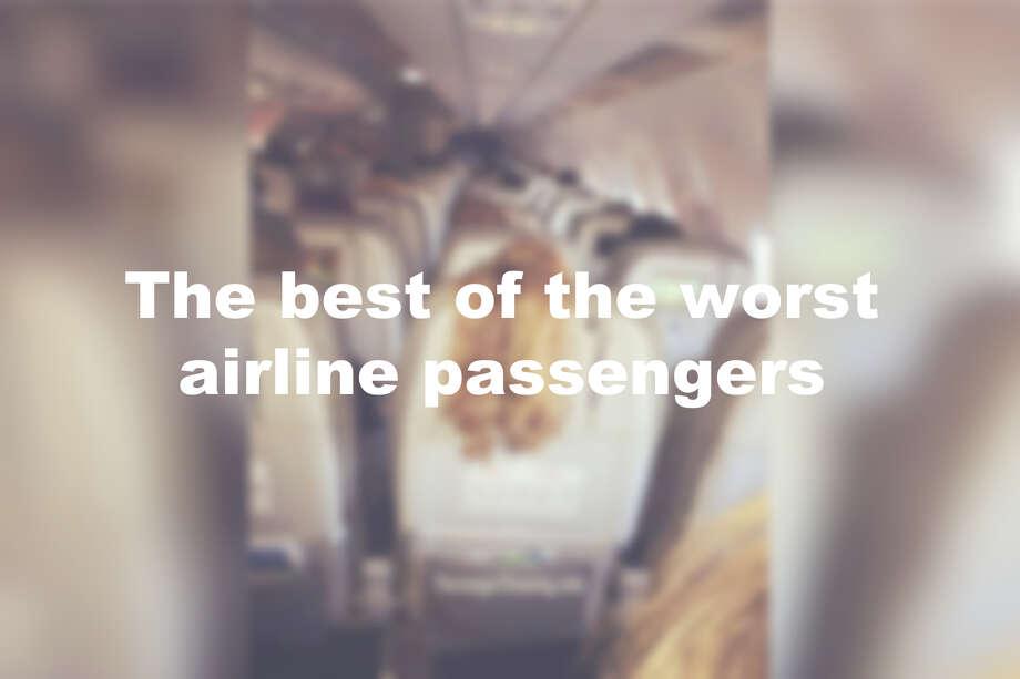 Click through the slideshow to see the WORST passenger behavior. Photo: @passengershaming