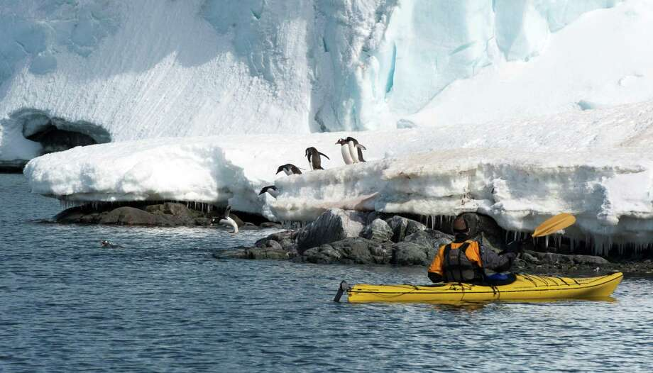 """""""Some Like It Frozen,"""" a photographic odyssey about Antarctica by Don Hyman, a retired corporate communications consultant and former Associated Press reporter/photographer, will be presented free on October 10 at the Aspetuck Brew Lab in Bridgeport. Photo: Don Hyman / Contributed Photo"""