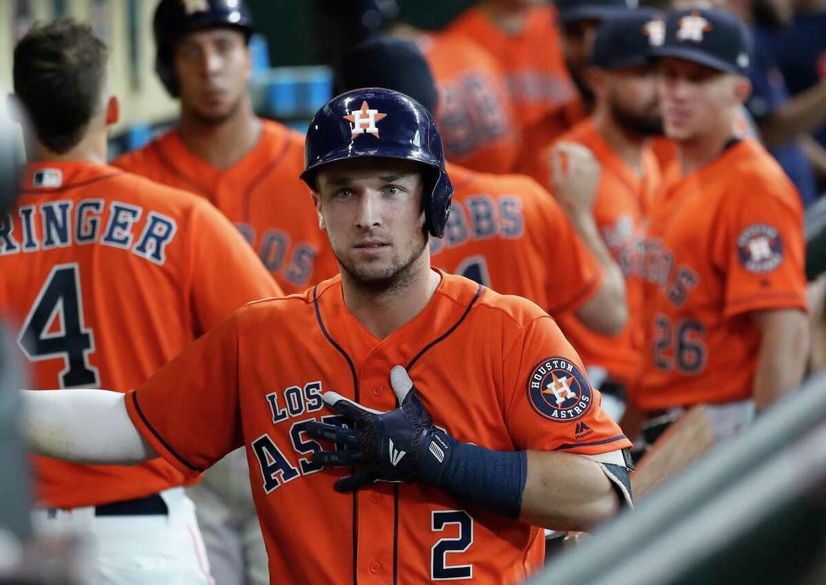 Alex Bregman finished the regular season with a .296/.423/.592 slash line, 41 homers, 37 doubles, two triples, 112 RBIs, 122 runs and 119 walks.