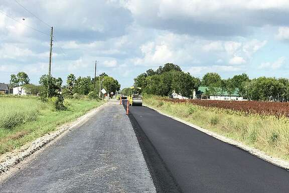 One lane of CR 603 is down and Pct. 4 Commissioner Leon Wilson expects the rest of the road to be completed in the next couple of days.
