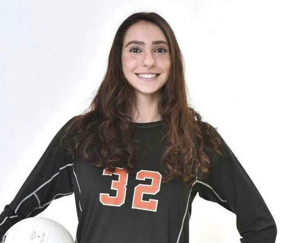 Reem Abdel-Hack had six kills and six aces in the win over Hillhouse. Photo: Peter Hvizdak / Hearst Connecticut Media / Shelton Herald