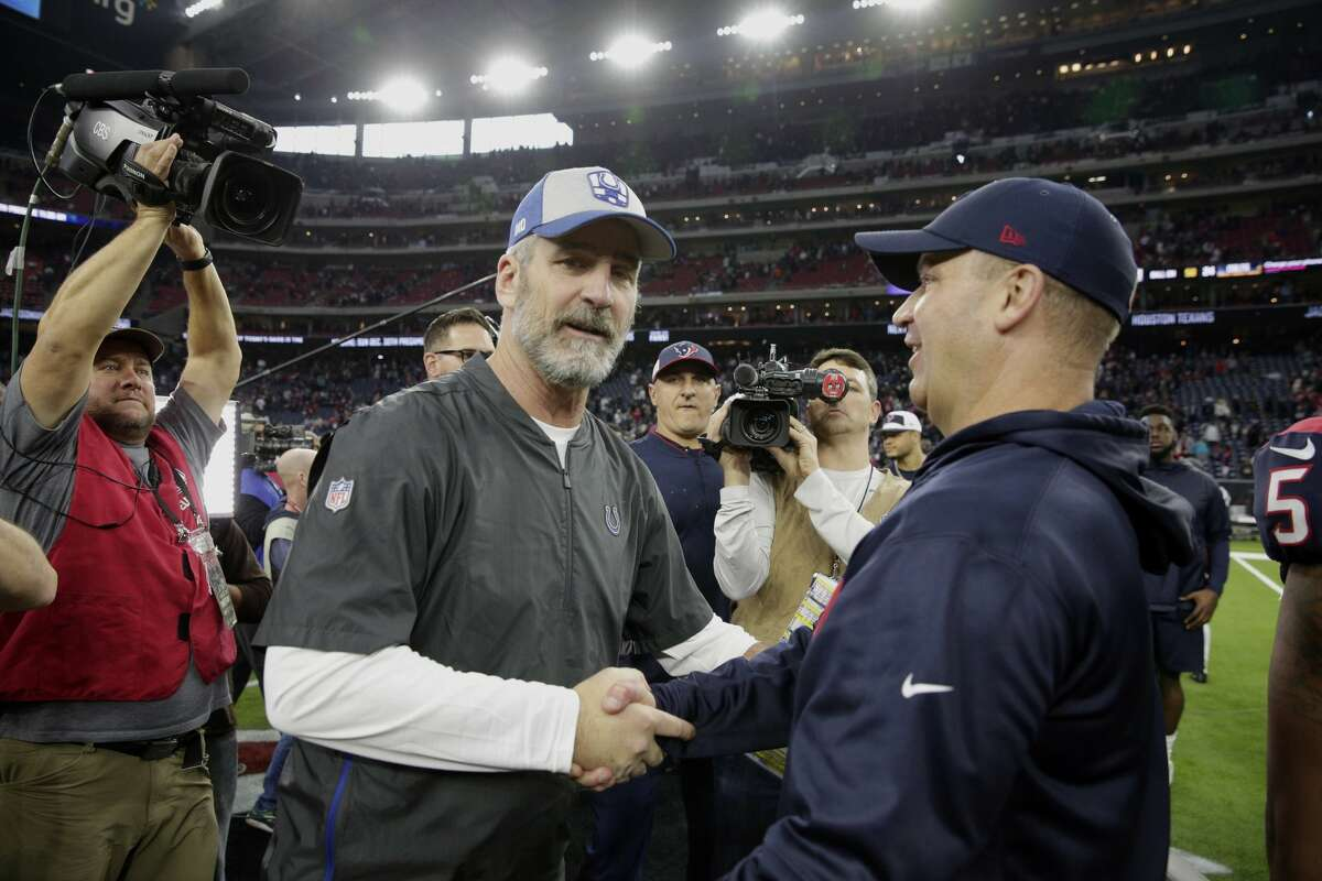 Texans coach Bill O'Brien and his Colts counterpart Frank Reich saw their teams tumble in this week's power rankings after humbling home losses Sunday.