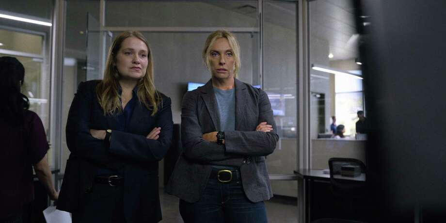 "Merritt Wever (left) and Toni Collette play detectives investigating a serial rape case in Colorado in Netflix's limited series ""Unbelievable."" Photo: Netflix/ Contributed Photo"