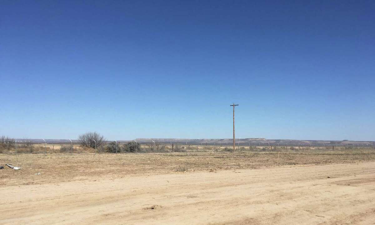 The area where the future Midway Solar project will be built is seen Thursday, Jan. 18, 2018. Midway Solar is a project by 174 Power Global located about 10 miles south of McCamey, Texas, in Pecos County.