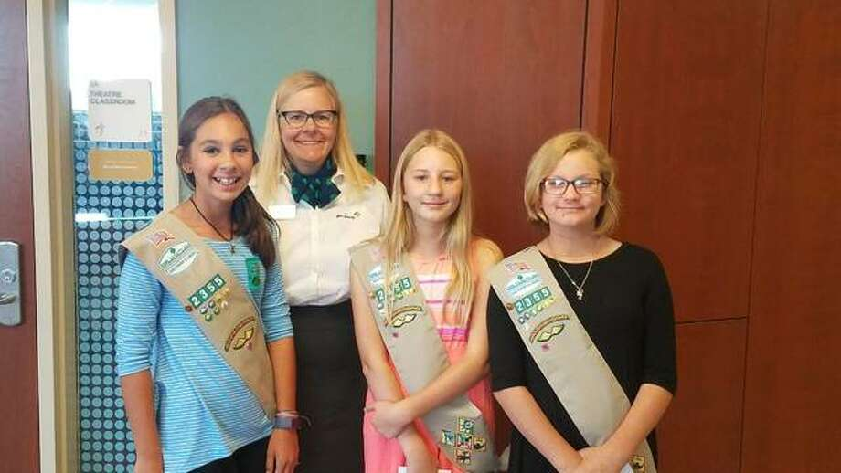 Girl Scouts of Southern Illinois recieve Governor's Hometown Awards for service projects. Photo: Submitted