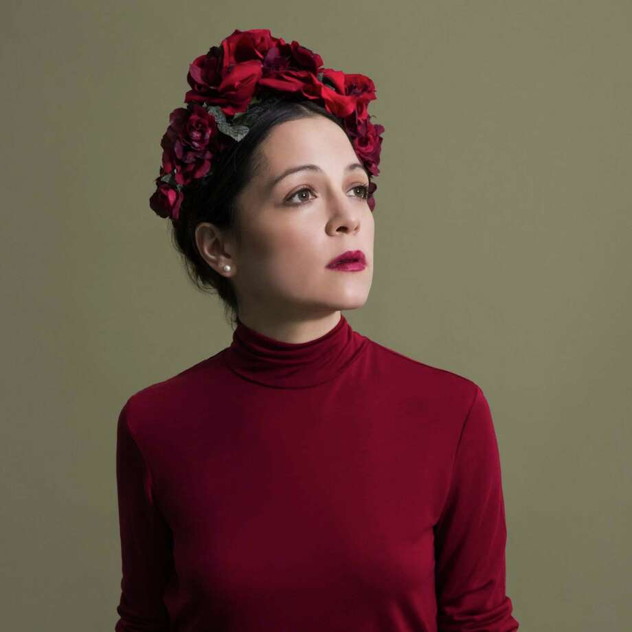Natalia LaFourcade performs live at Revention Music Center on Thursday. Photo: Sony Music
