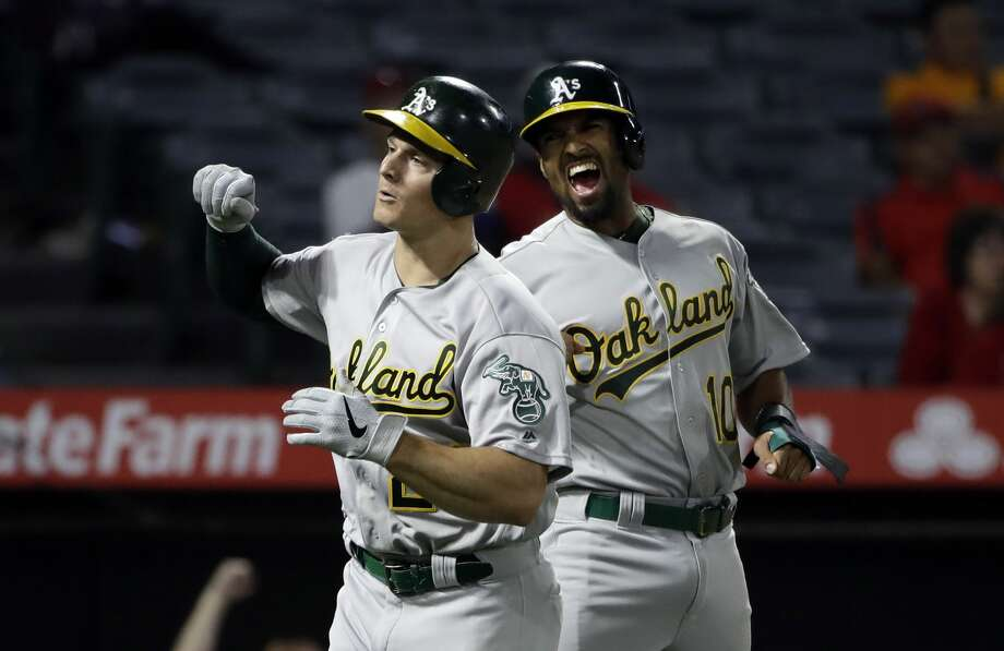 The Oakland A's host the Tampa Bay Rays on Wednesday, Oct. 2 in the American League Wild Card Game. Photo: AP Images / Copyright 2019 The Associated Press. All rights reserved.