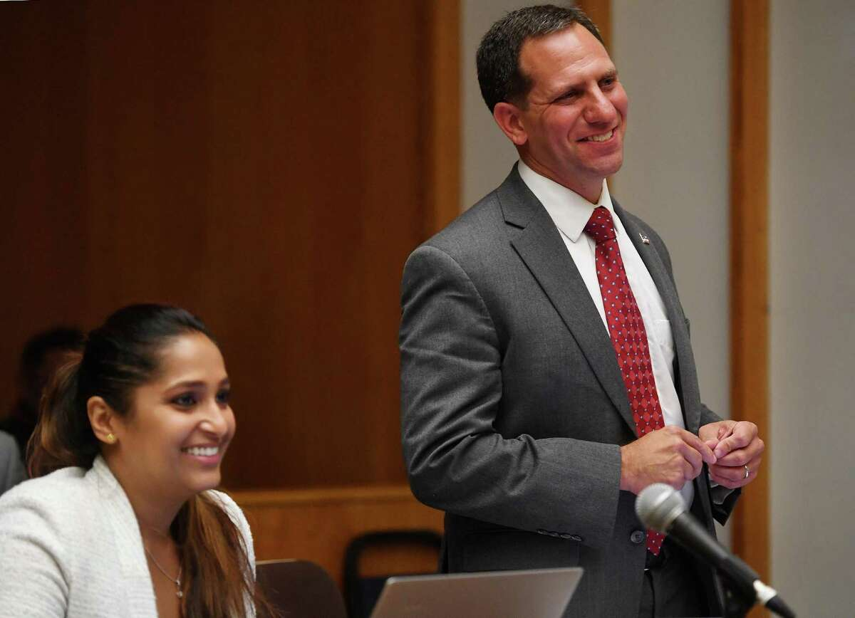 Attorneys for the plaintiffs in a suit challenging the results of the recent Bridgeport Democratic Primary, Prerna Rao, left, and Jonathan Shapiro.