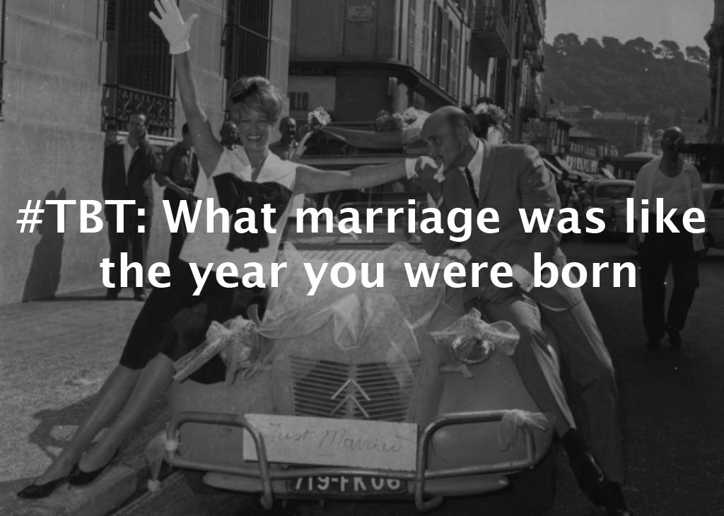 #ThrowbackThursday: What marriage was like the year you were born