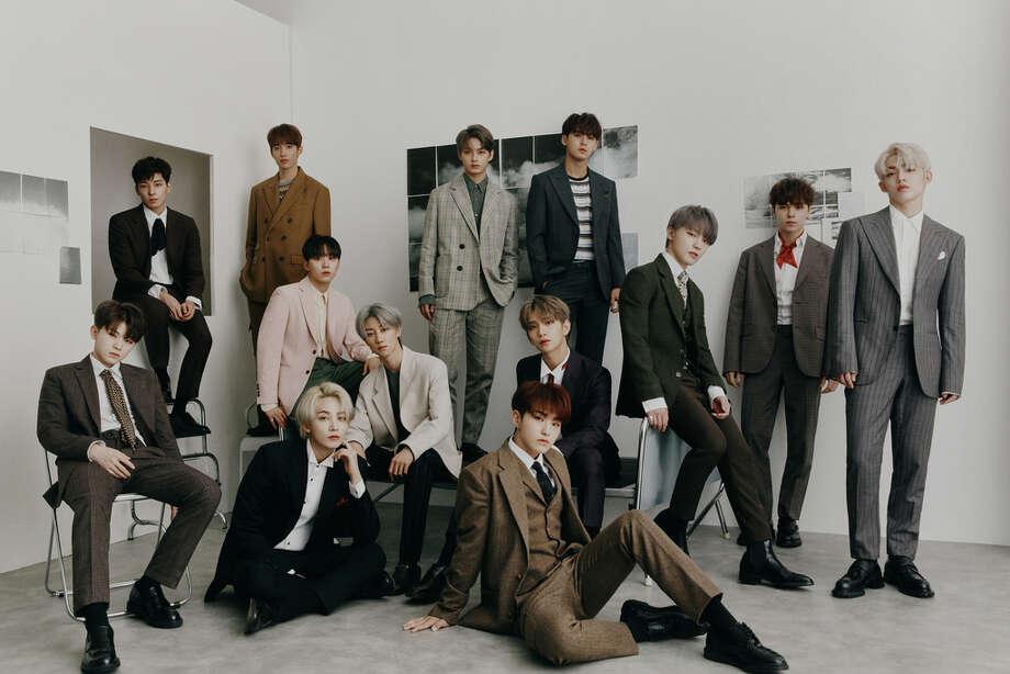 K-pop group Seventeen Photo: Lede Company