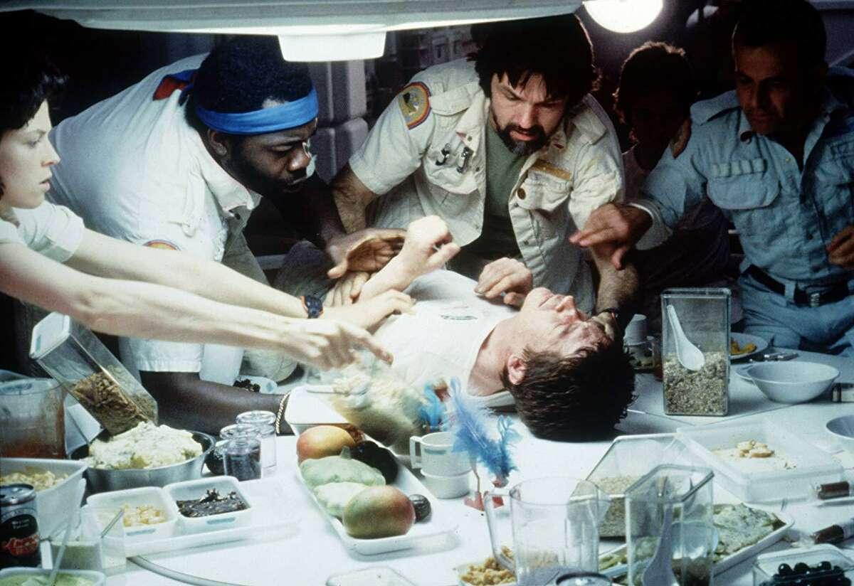 Sigourney Weaver,Ian Holm,John Hurt,Tom Skerritt,Veronica Cartwright, andYaphet KottoinAlien (1979)