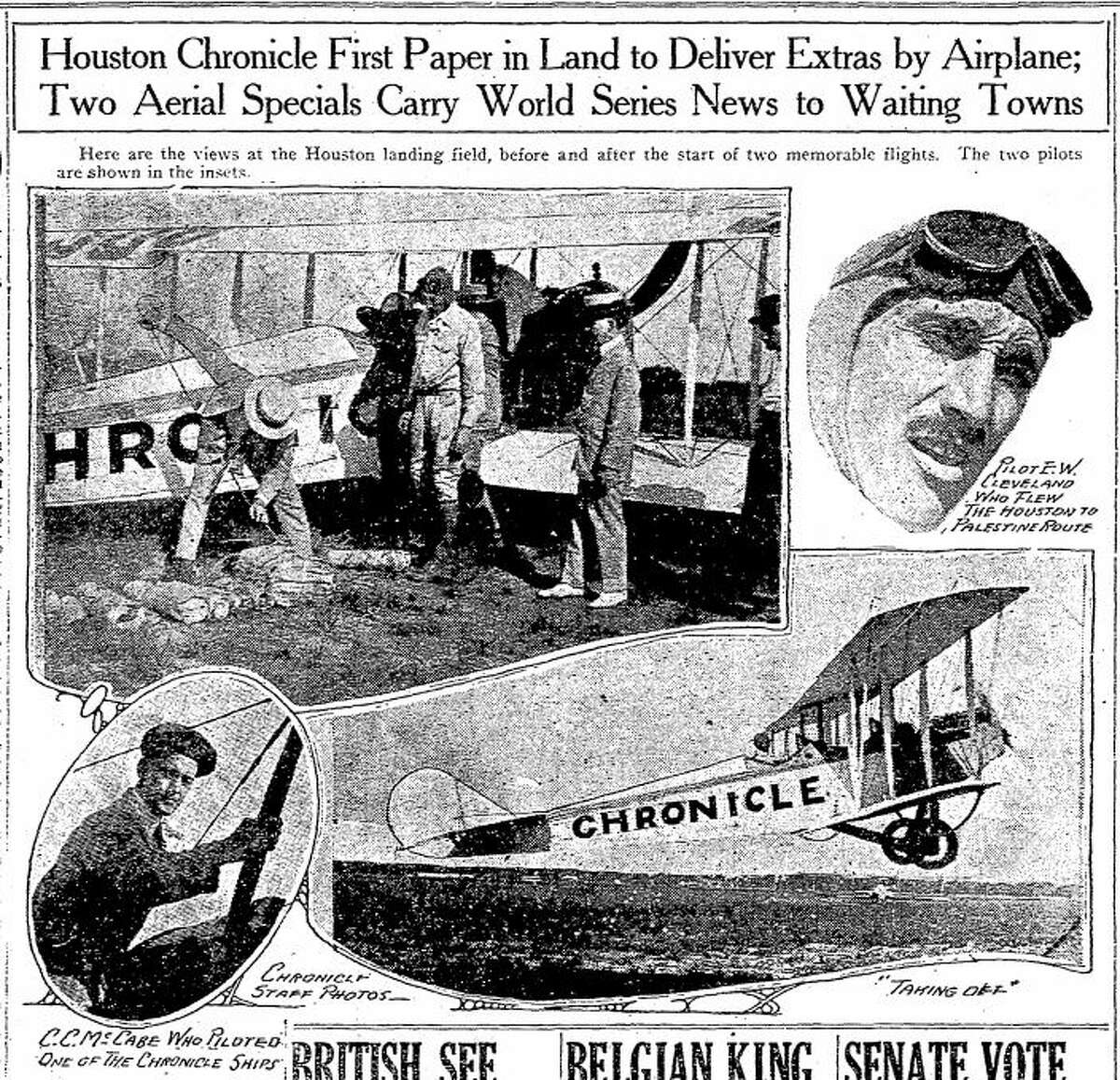 From the Houston Chronicle's front page on Oct. 2, 1919.