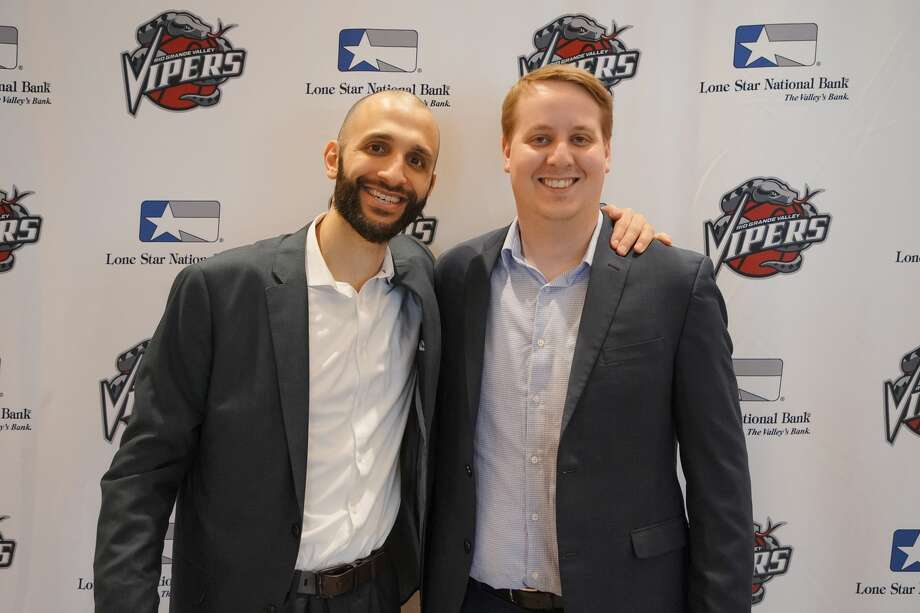 The Rio Grande Valley Vipers, the Rockets' G League affiliate, named Mahmoud Abdelfattah (left) as the new head coach Tuesday. Travis Stockbridge (right) was named the new general manager. Photo: Rio Grande Valley Vipers/Christian Inoferio