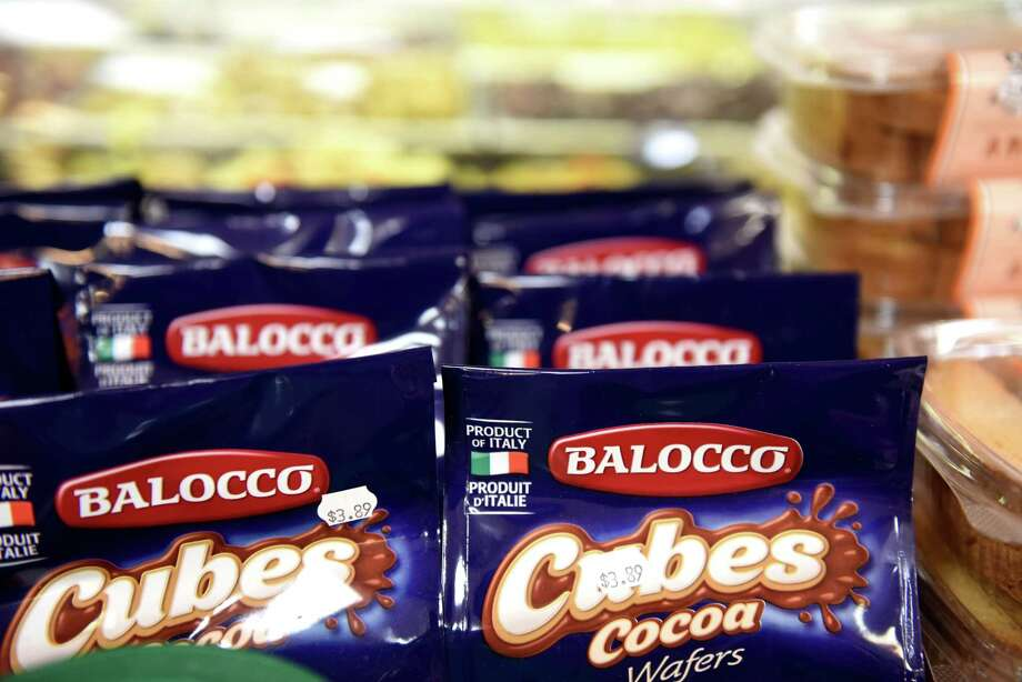 Imported Italian cookies are displayed at Roma Foods Importing Company on Tuesday, Oct. 1, 2019, in Latham, N.Y. Italian food imports could become more expensive as the Trump administration gets the green light from the WTO to levy tariffs on a range of imports from the EU after the trade regulator determined that EU unfairly subsidized Airbus. (Will Waldron/Times Union) Photo: Will Waldron, Albany Times Union
