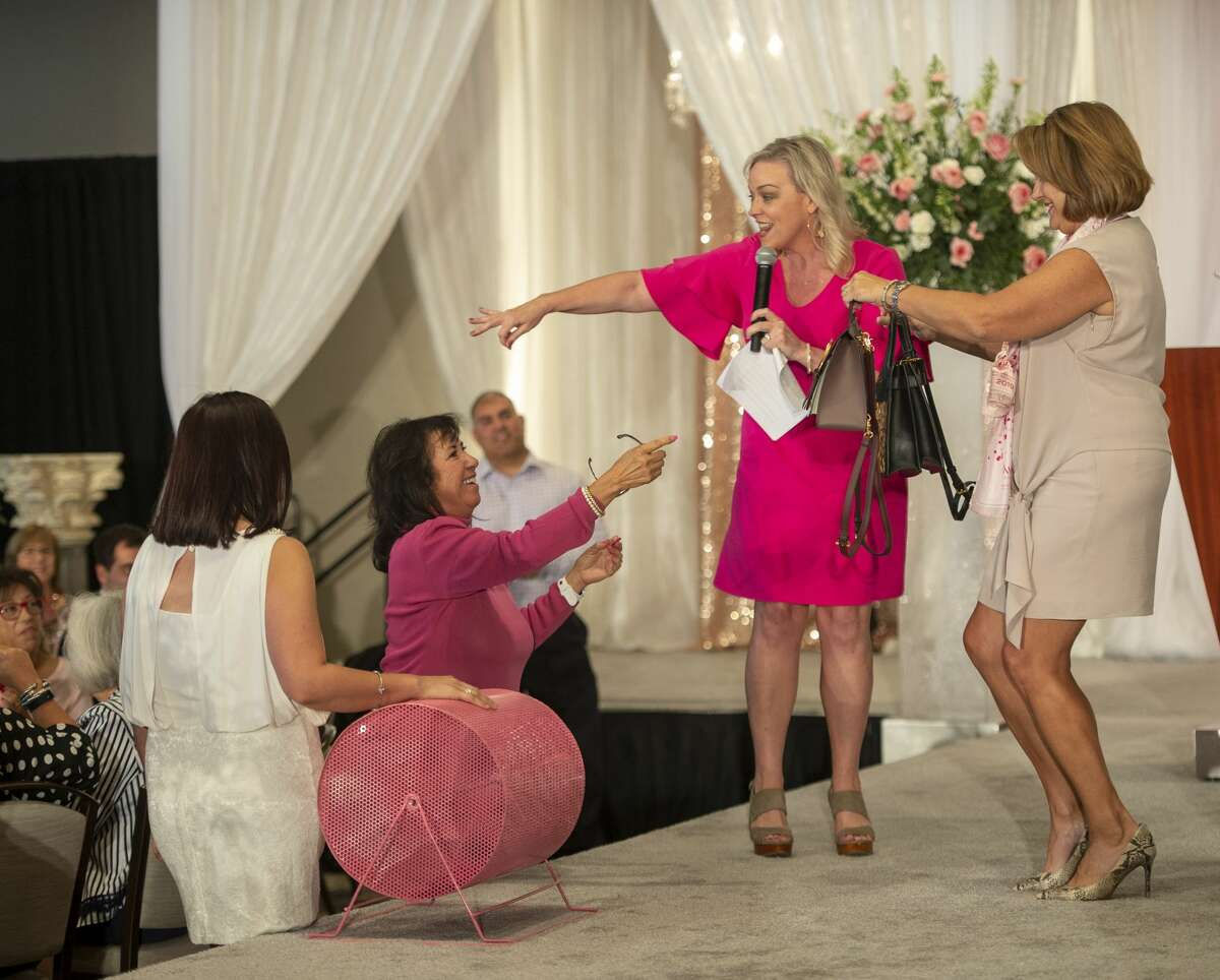 Designer purses are raffled off at the Pink the Basin benefit luncheon was held Tuesday, Oct. 1, 2019 at the Odessa Marriott Hotel and Conference Center.