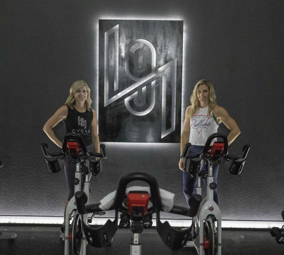 Owner Meredith Whitaker and instructor Jill Hayes on Sept. 12 at 191 Cycle. Photo: Jacy Lewis
