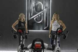 Owner Meredith Whitaker and instructor Jill Hayes on Sept. 12 at 191 Cycle.
