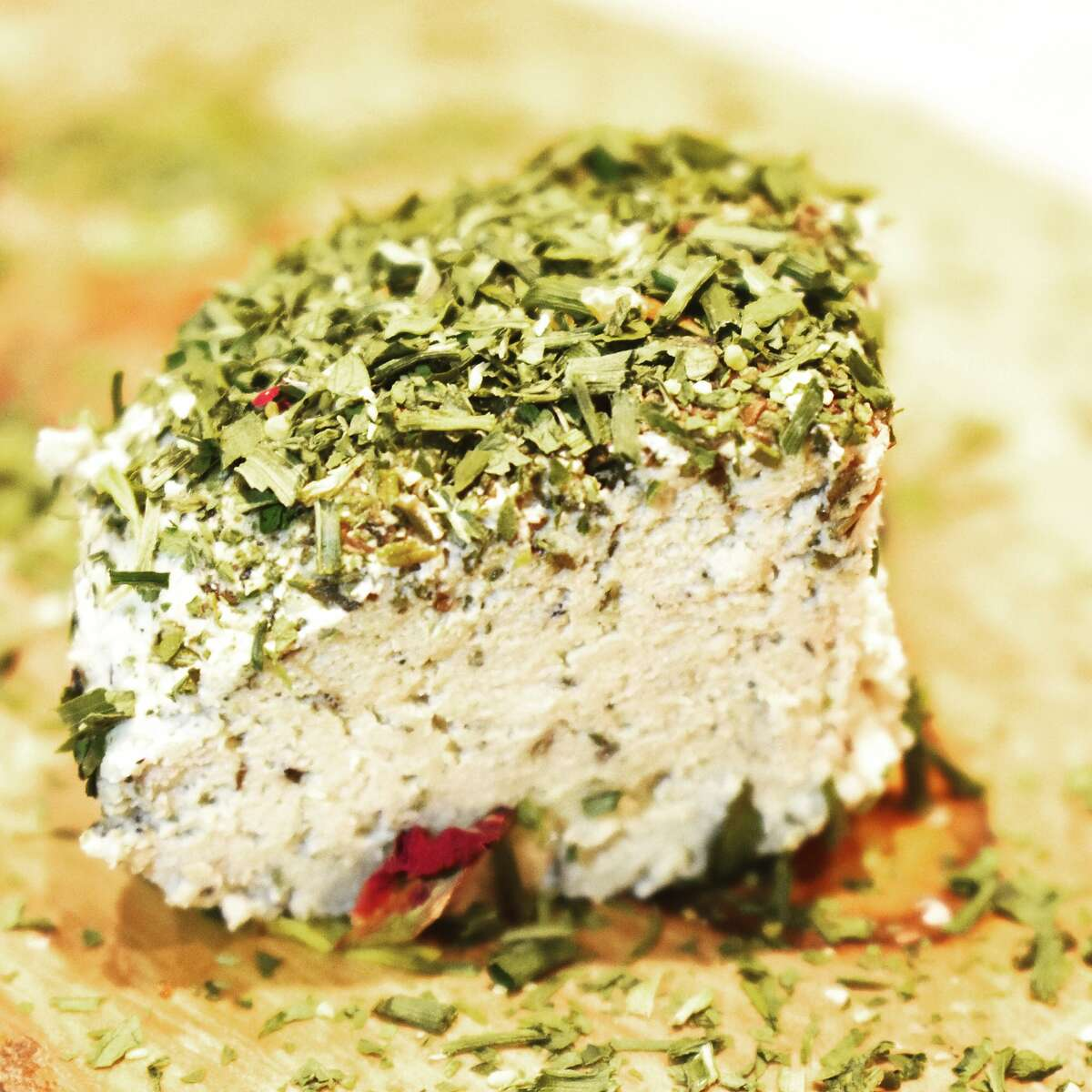 Spero Foods uses sunflower seeds to make its vegan Herbalicious goat cheese.