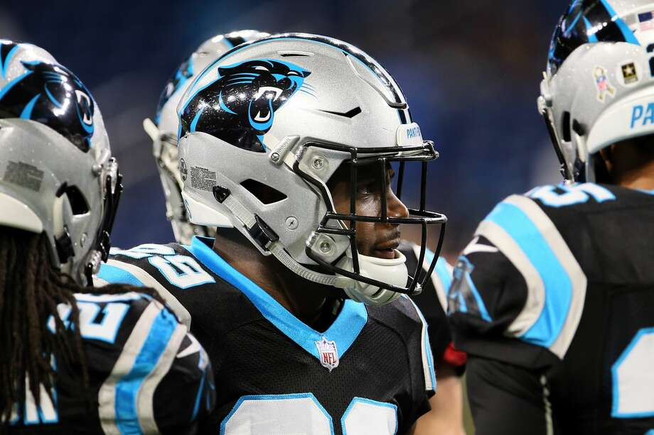 Carolina Panthers free safety Mike Adams (29) talks to his teammates during warmups before an NFL football game against the Detroit Lions in Detroit, Michigan USA, on Sunday, November 18, 2018. (Photo by Amy Lemus/NurPhoto via Getty Images) Photo: NurPhoto/NurPhoto Via Getty Images